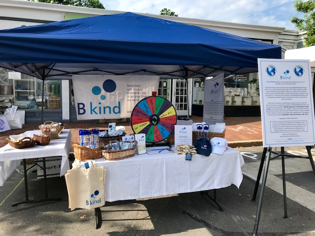 The B kind table at the New Canaan Village Fair and Sidewalk Sale, July 14, 2018