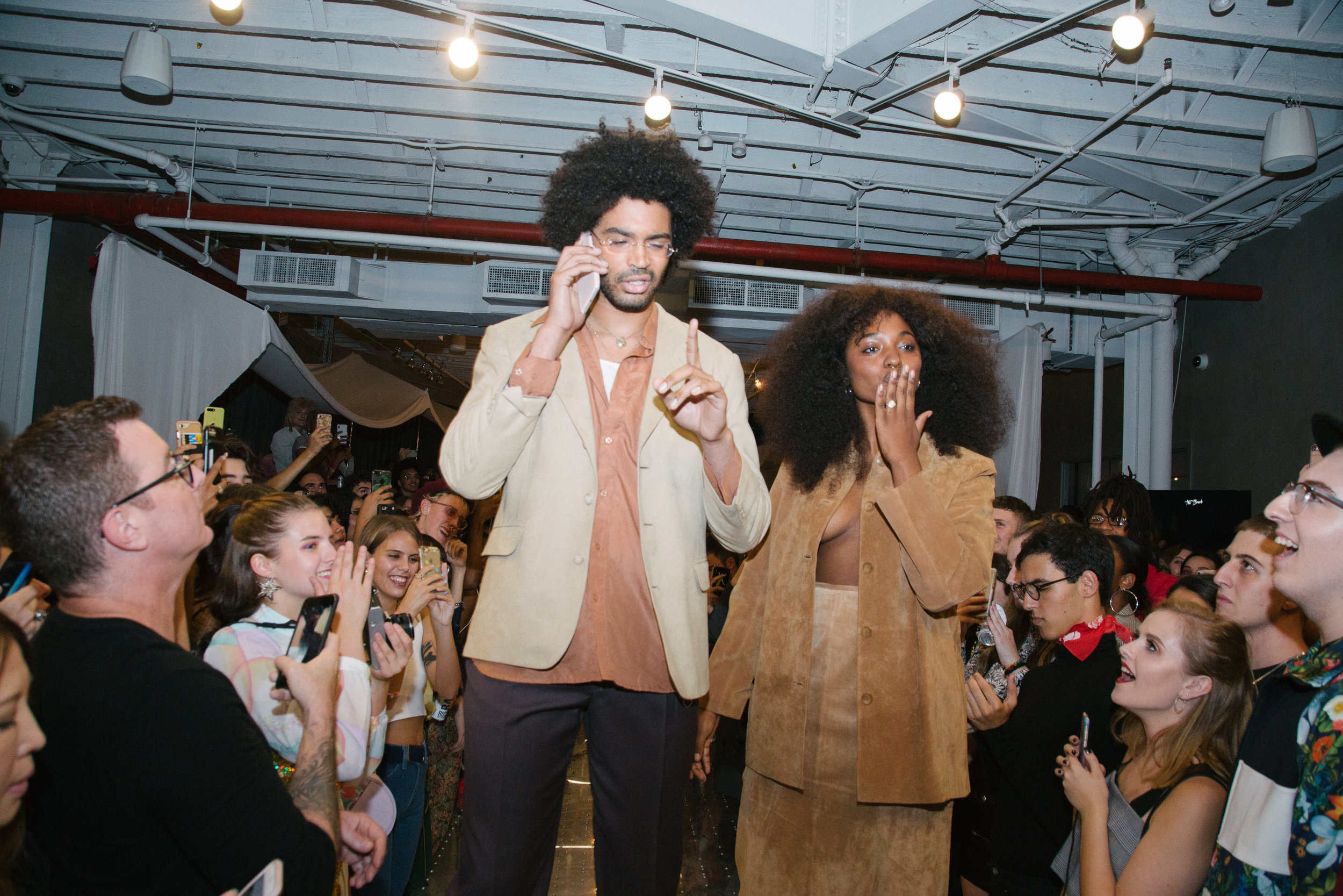Michael and Gabrielle on the runway shot by BFA photographer Mina Magna.