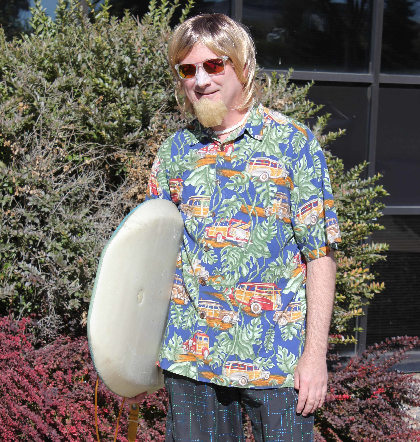 Mark Seybold as 'Surfer Dude' at the ExtenData 2014 Halloween party.