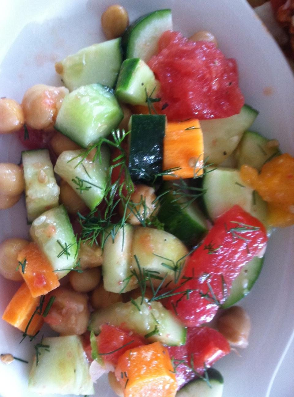 cuc tomato chickpea salad