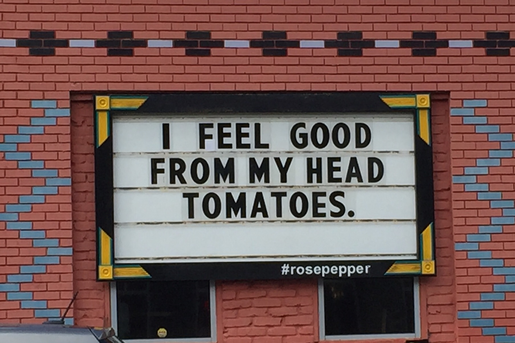 The marquee outside  Rosepepper  Cantina in East Nashville.