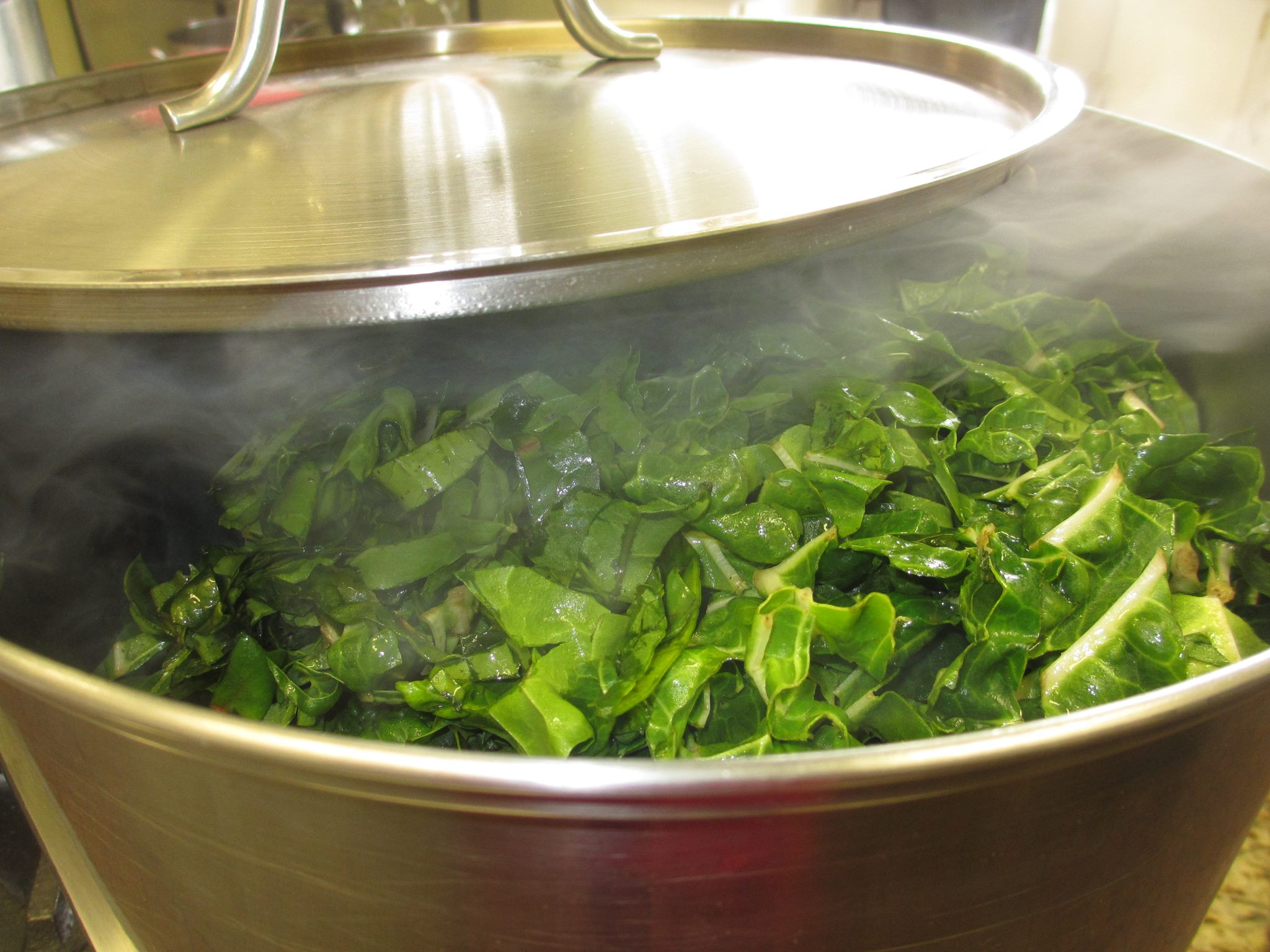 Greens! A favorite at several of our meal sites.