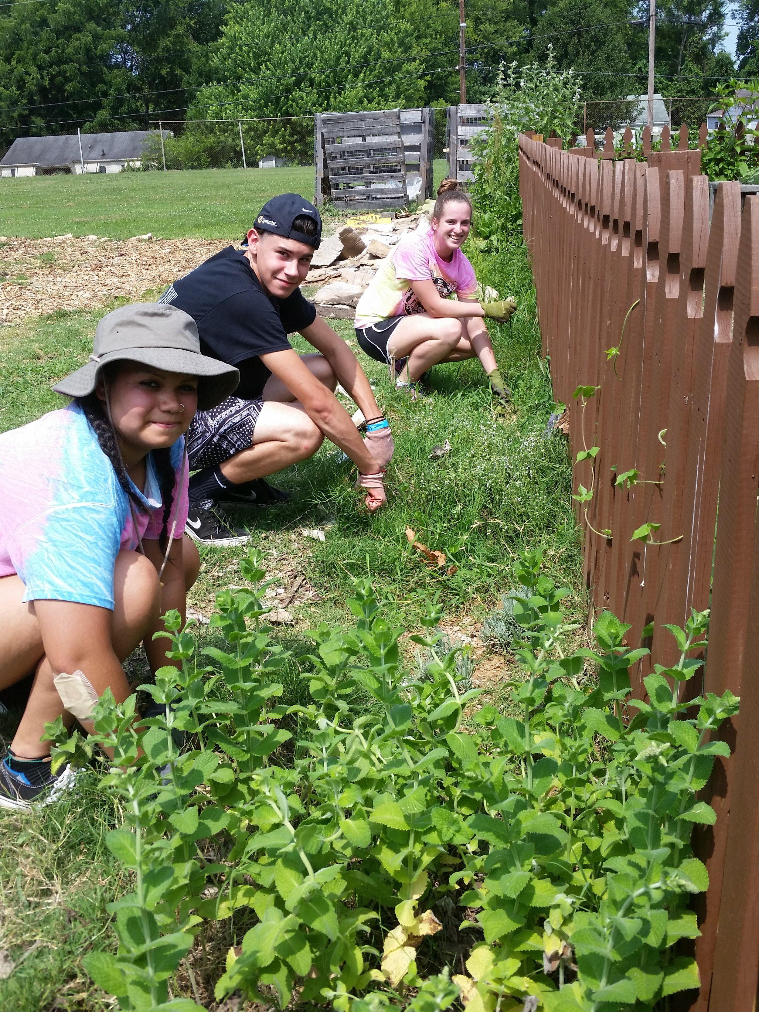 Volunteers at McGruder Garden