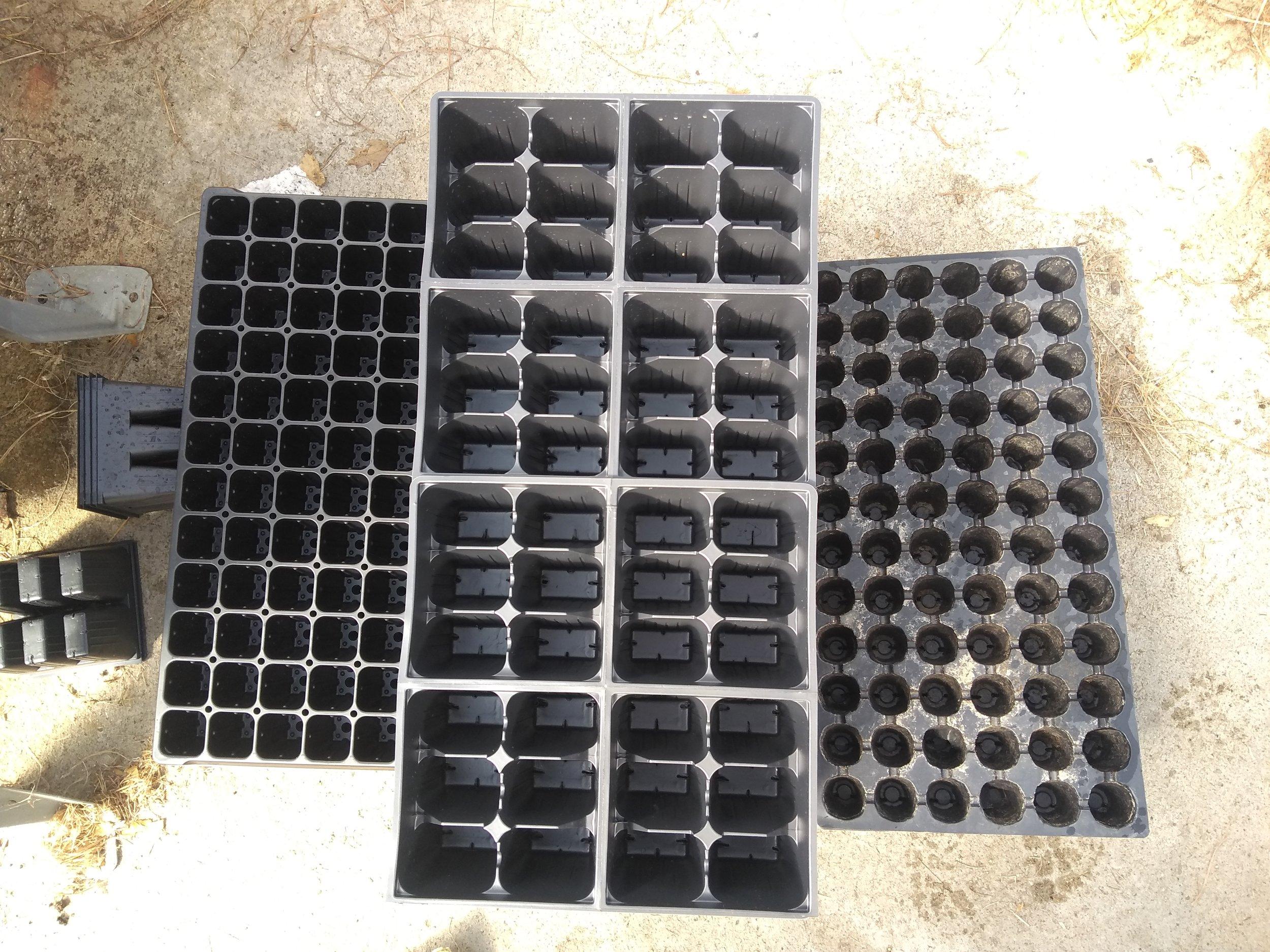 Varieties of plastic trays