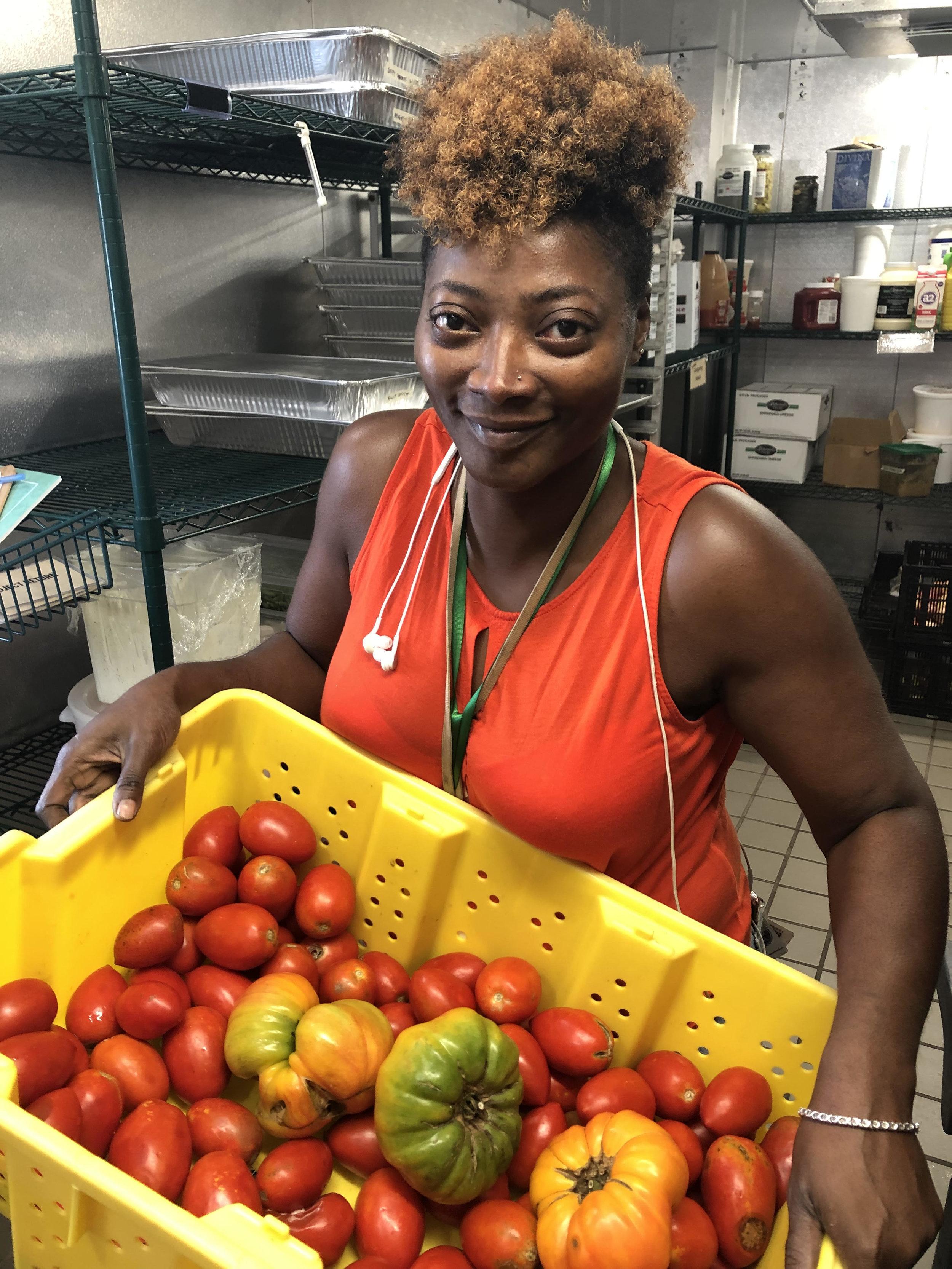 Bianca Morton, Chef Director at TNFP's California Avenue kitchen.
