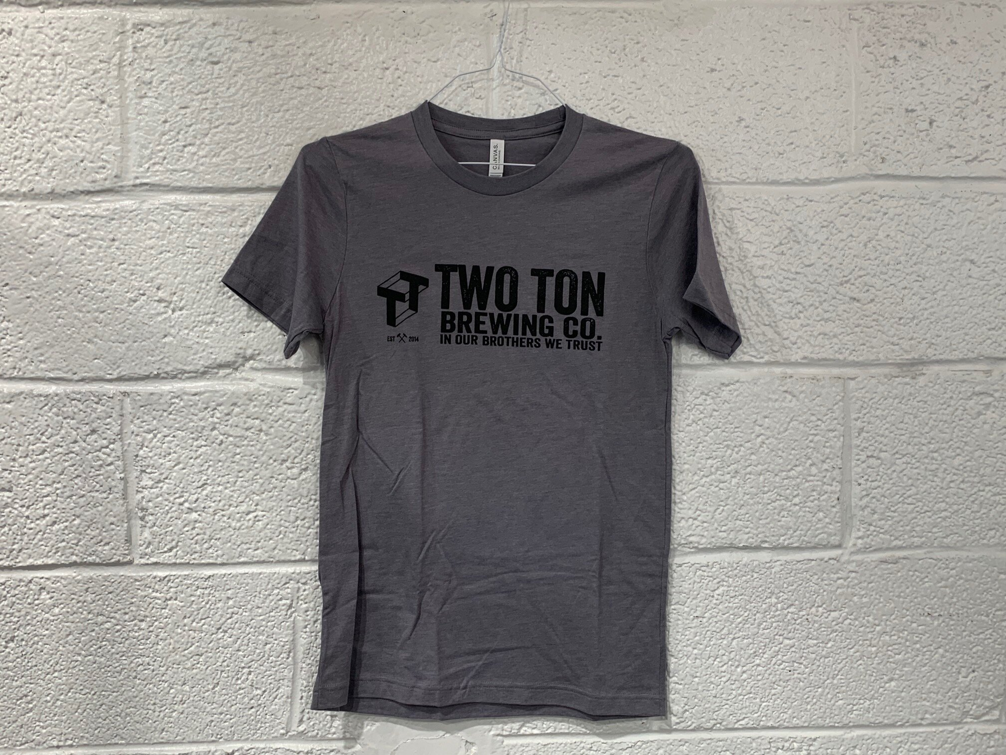 Two Ton Logo T-shirt   $ 15.00   Unisex, black logo on dark gray T-shirt.  Multiple sizes available.