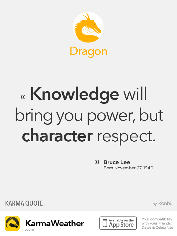Chinese Zodiac Quotes: Dragon #BruceLee