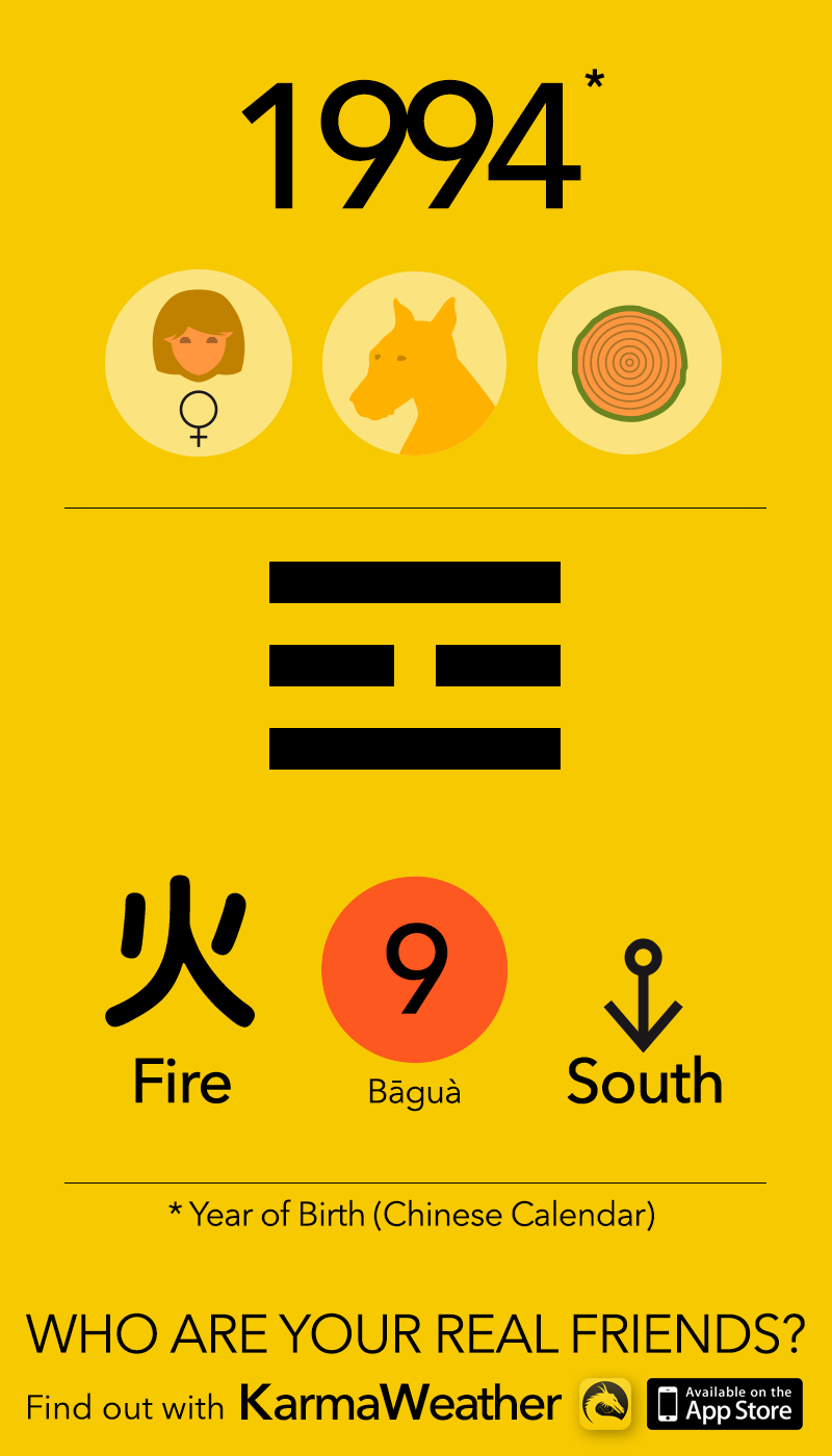 Feng Shui BaGua basics for women born in 1994, by KarmaWeather #Dog