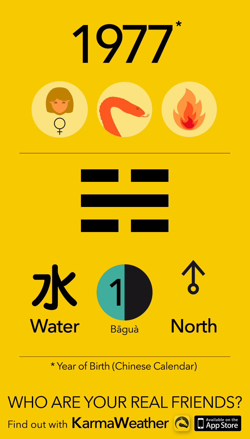 Feng Shui BaGua basics for women born in 1977, by KarmaWeather #Snake
