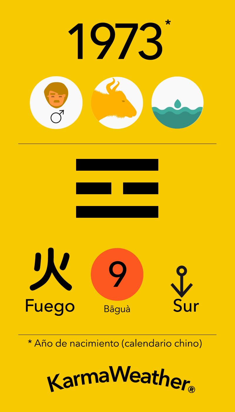 Fundamentos de Feng Shui BaGua para hombres nacidos en 1973 por KarmaWeather #Bufalo