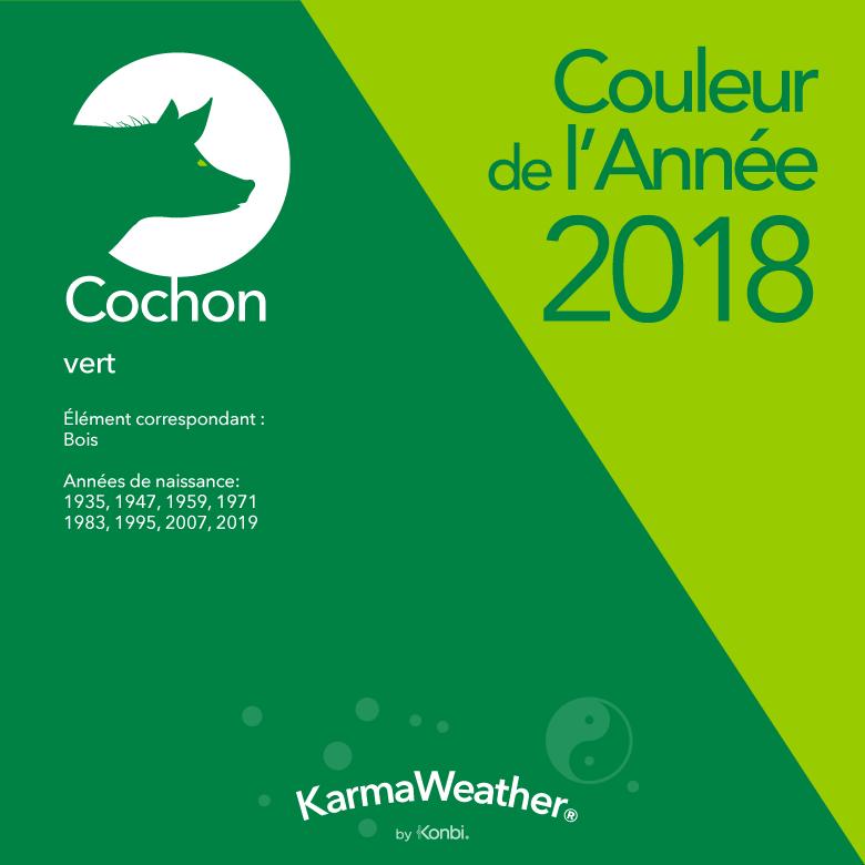 Couleur 2018 Cochon