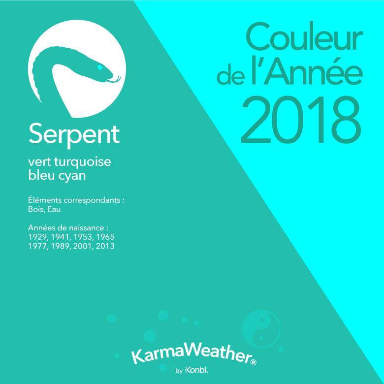 Couleur 2018 Serpent