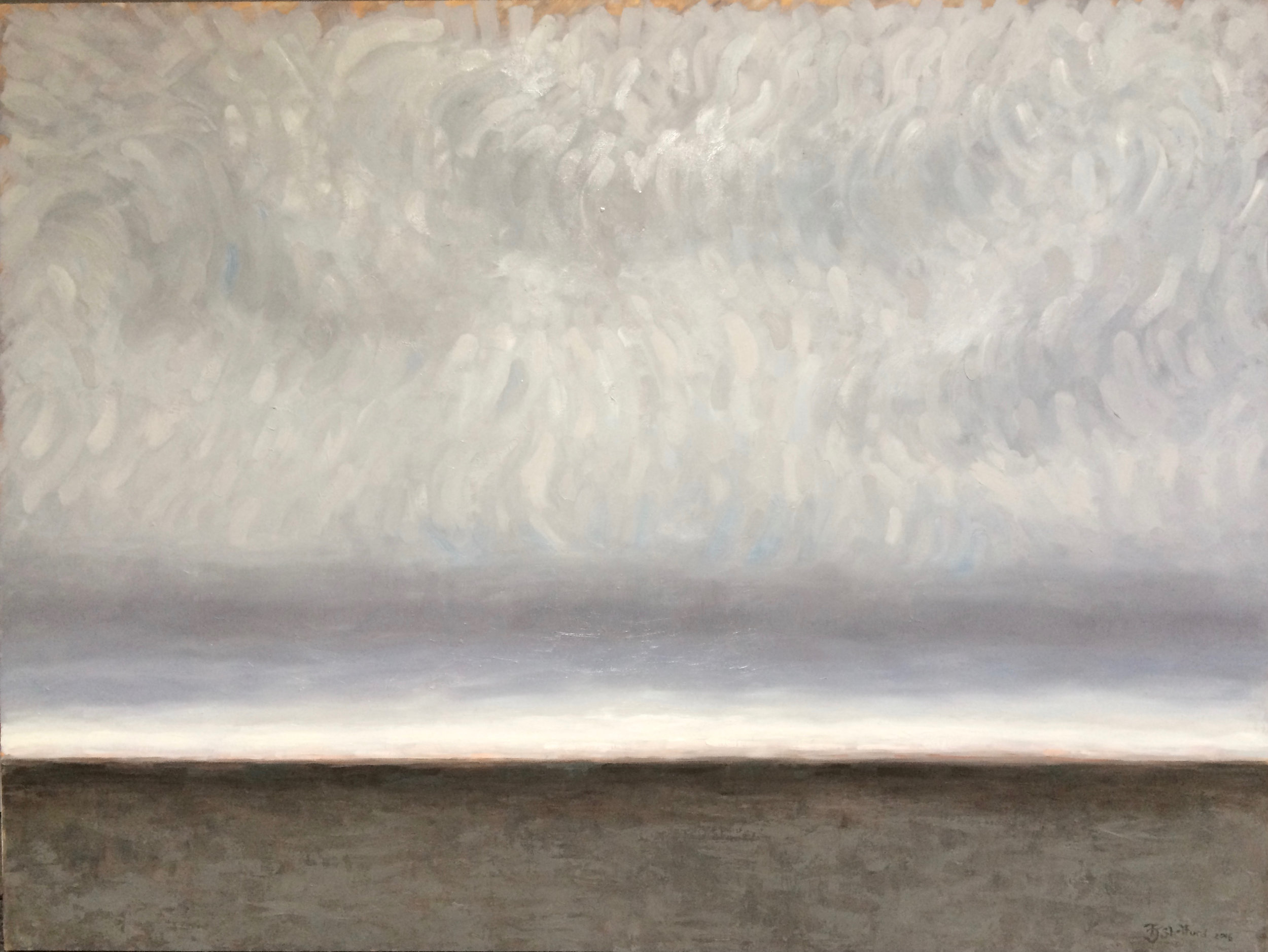"""Fog"", 2016.  Oil on board."