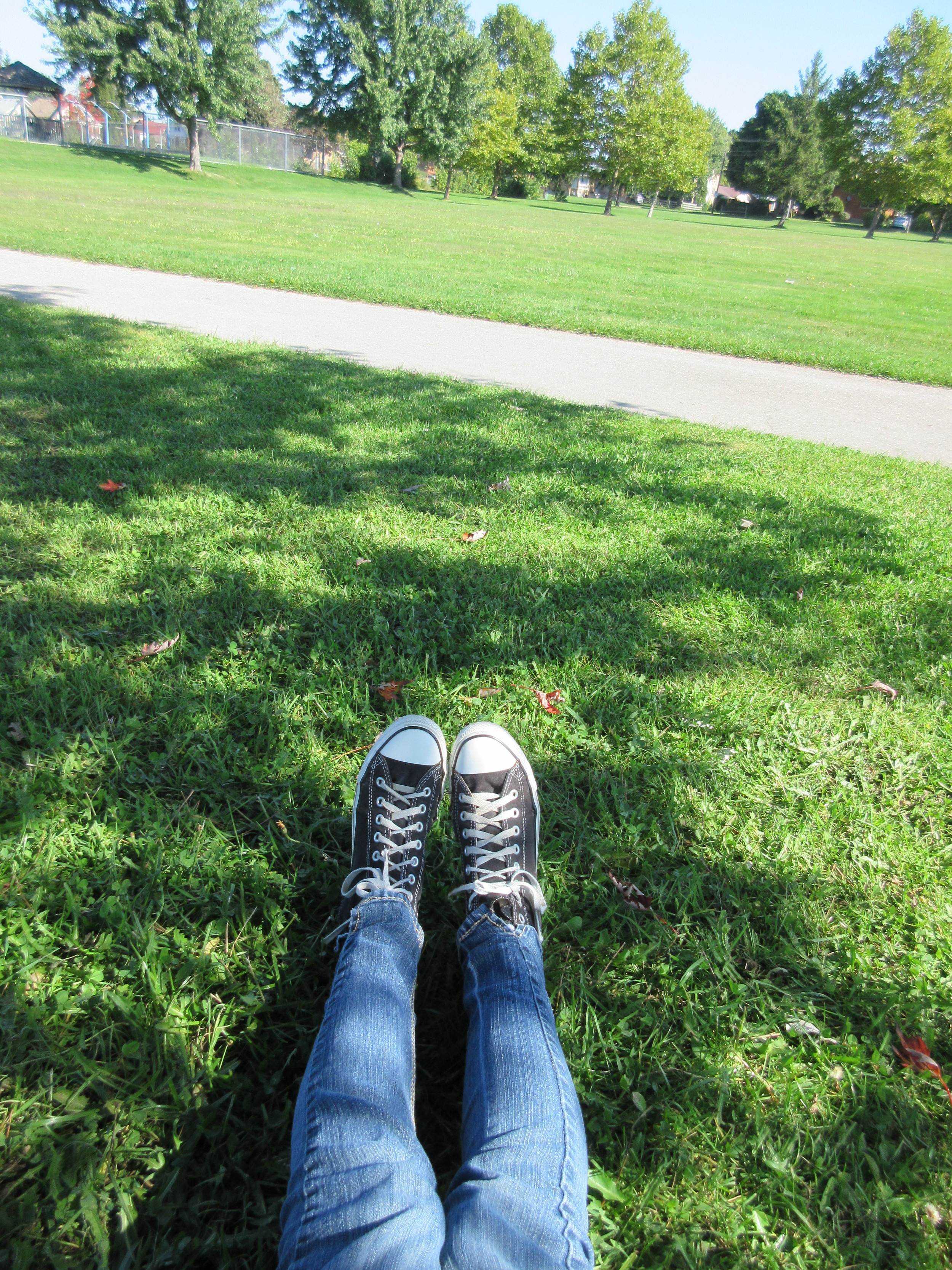 """Whenever I need time to myself I go to the park, I'll go on the swings or read under a tree."""