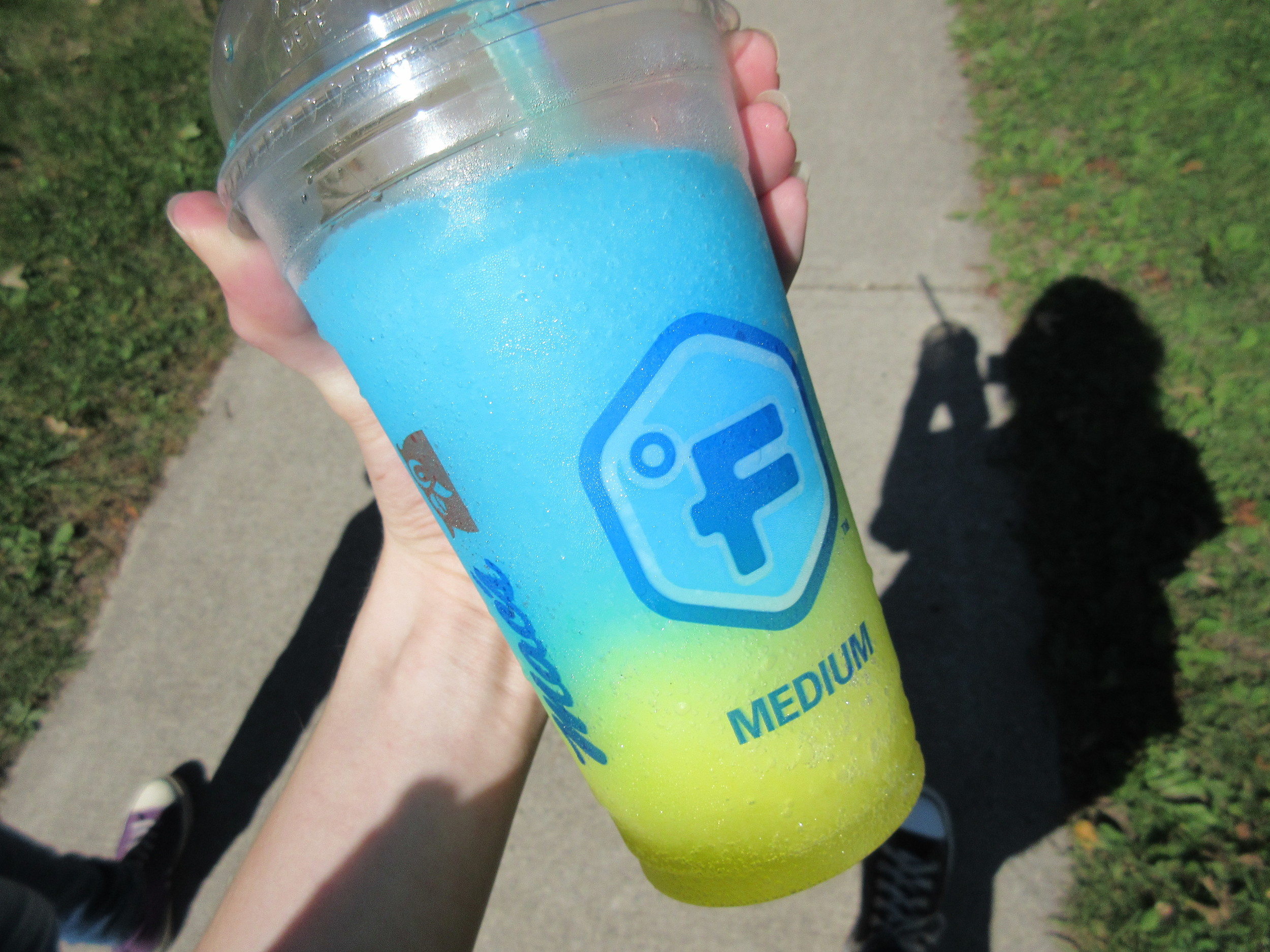 Slushies from the corner store.