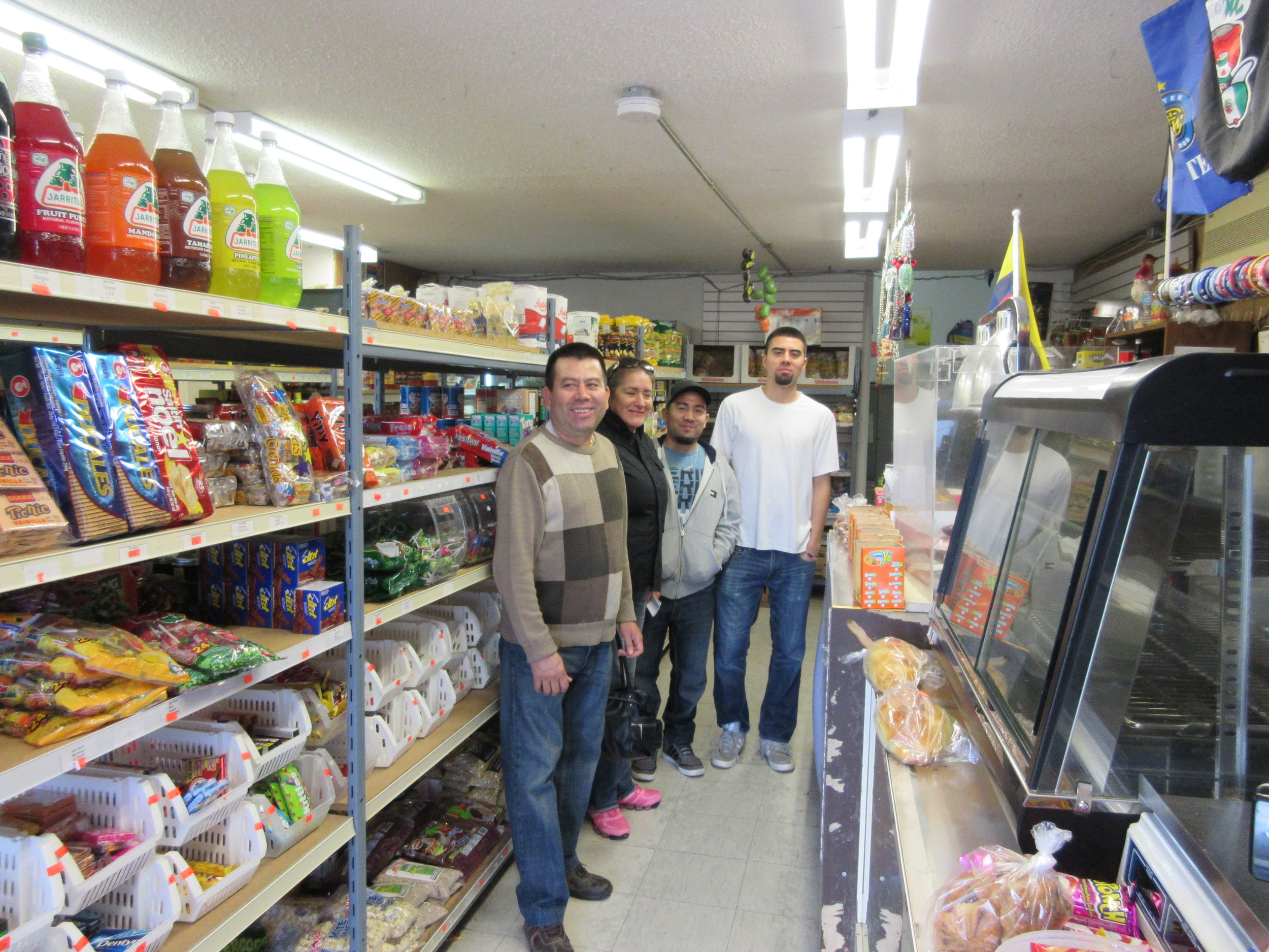 "Mr. Hernandez owns a variety store that sells Hispanic products and products from other nationalities. "" For me this is important because this is a spot where all Hispanics go there to buy their beans, torillas, arepas, bananas and everything."""