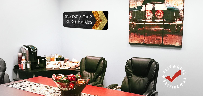 cnc machining - request a tour