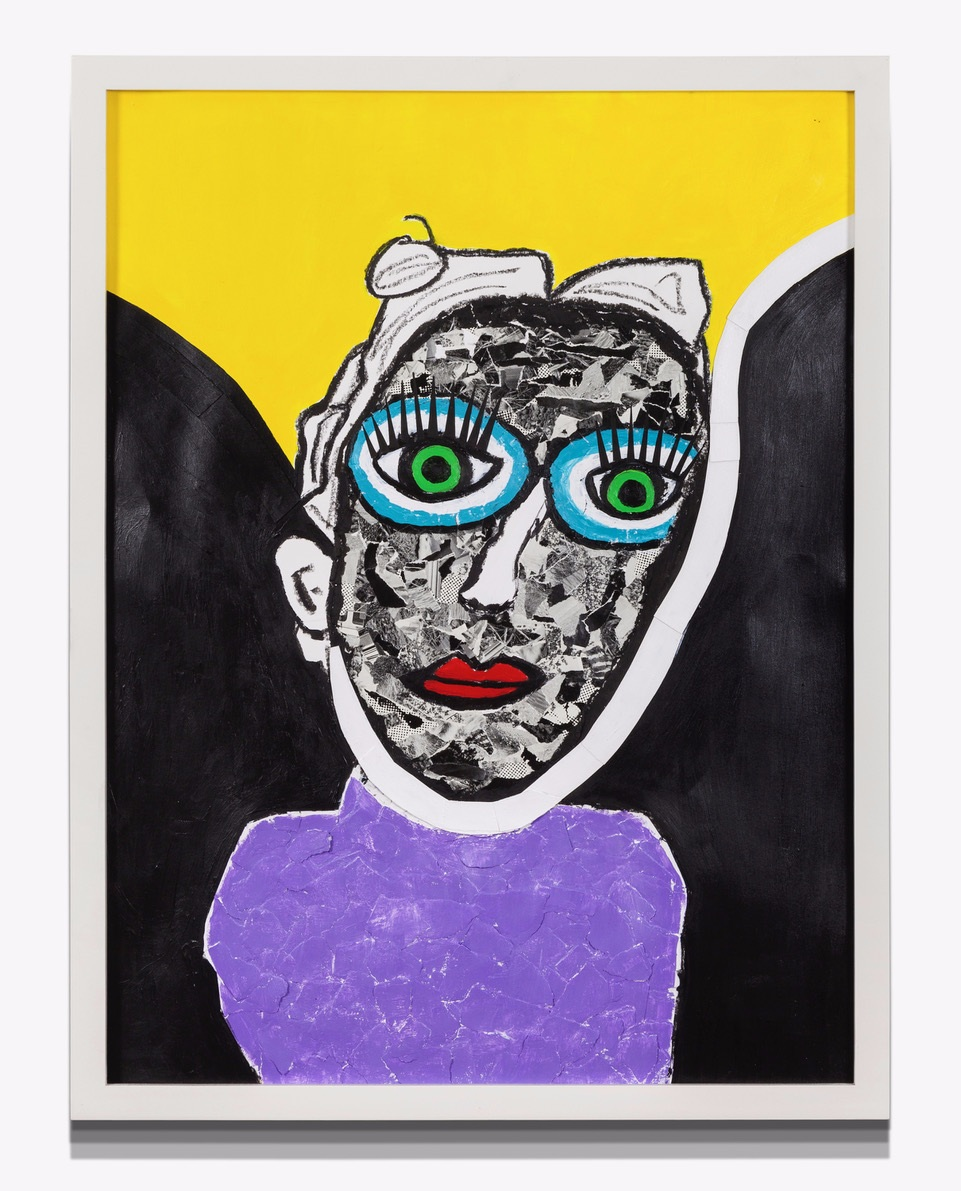 """WomanWoman Detached Acrylic, Paper on Paper 19"""" x 24"""""""