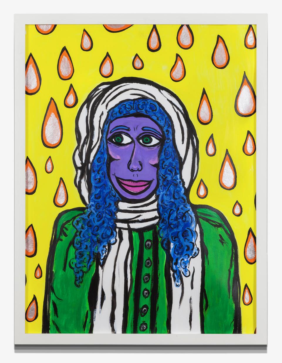 "RainShine Acrylic, Paper on Paper 19"" x 24"""