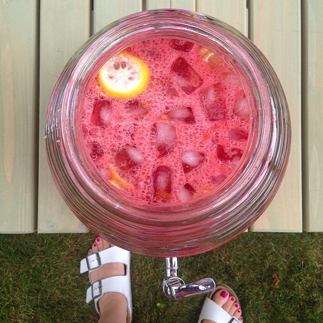 Fourth of July watermelon lemonade with matching pedicure (not planned).