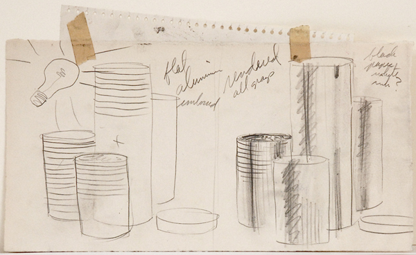 "Study for ""Stacked Dishes"""