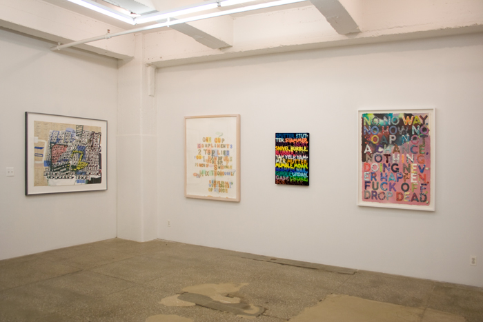 Installation View: Text as Image