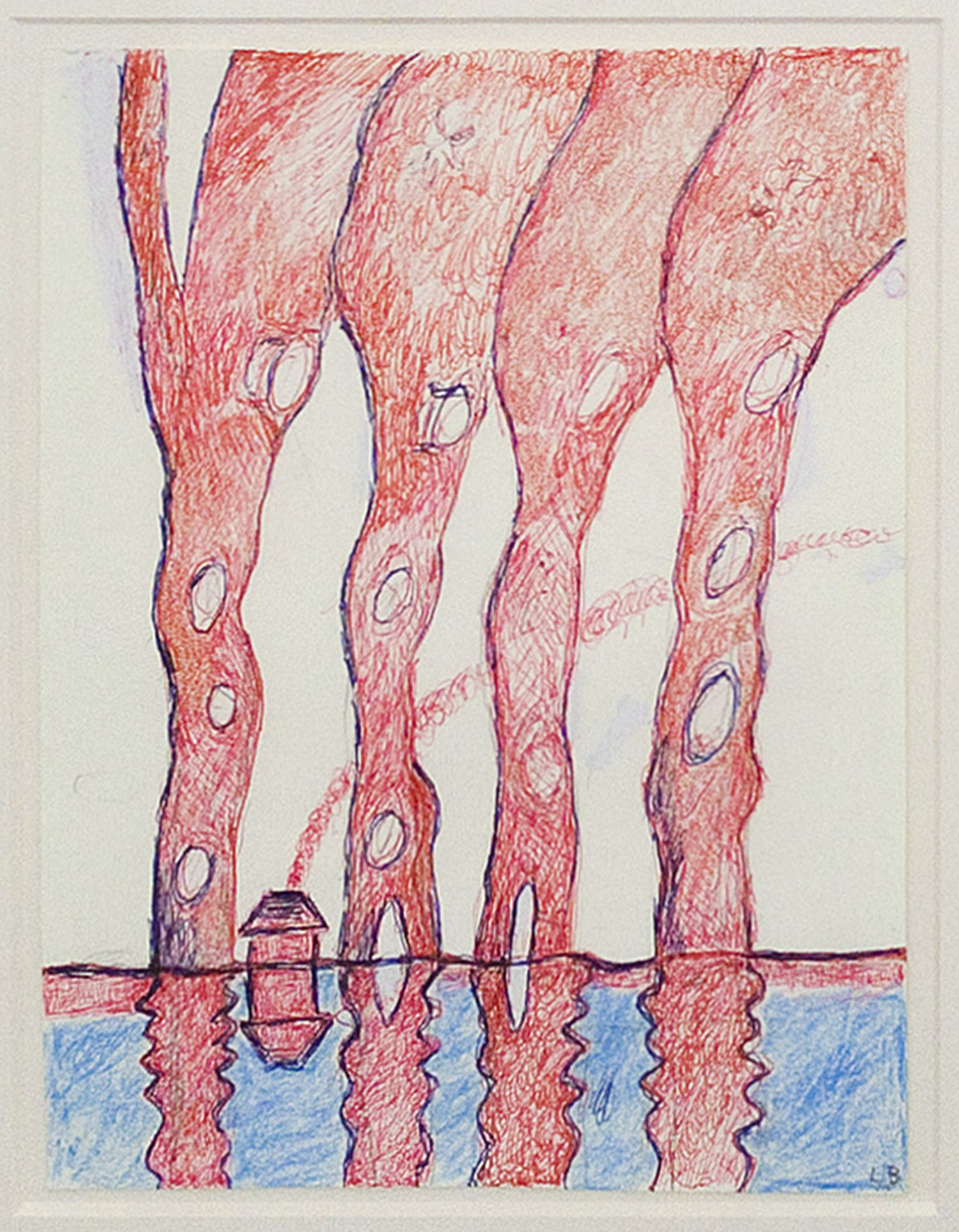 Louise Bourgeois Untitled 1997 pen and crayon on paper 11 5/8 x 9 inches
