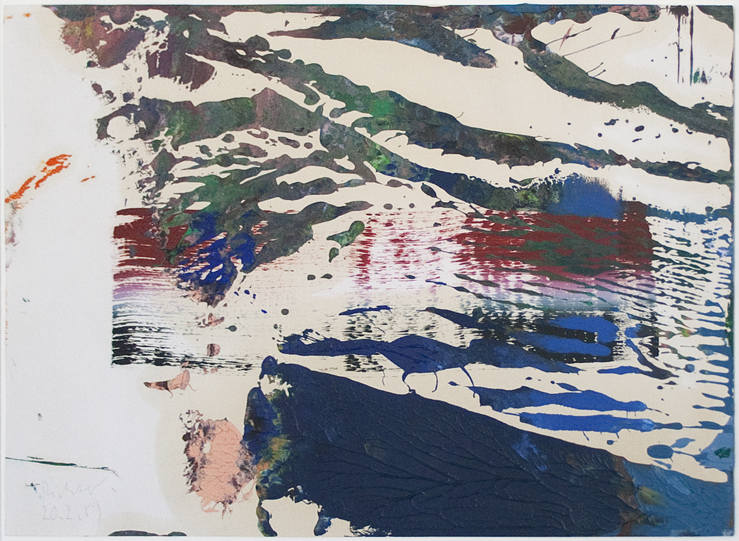 Gerhard Richter Untitled 1989 oil on paper 8 1/4 x 12 1/4 inches