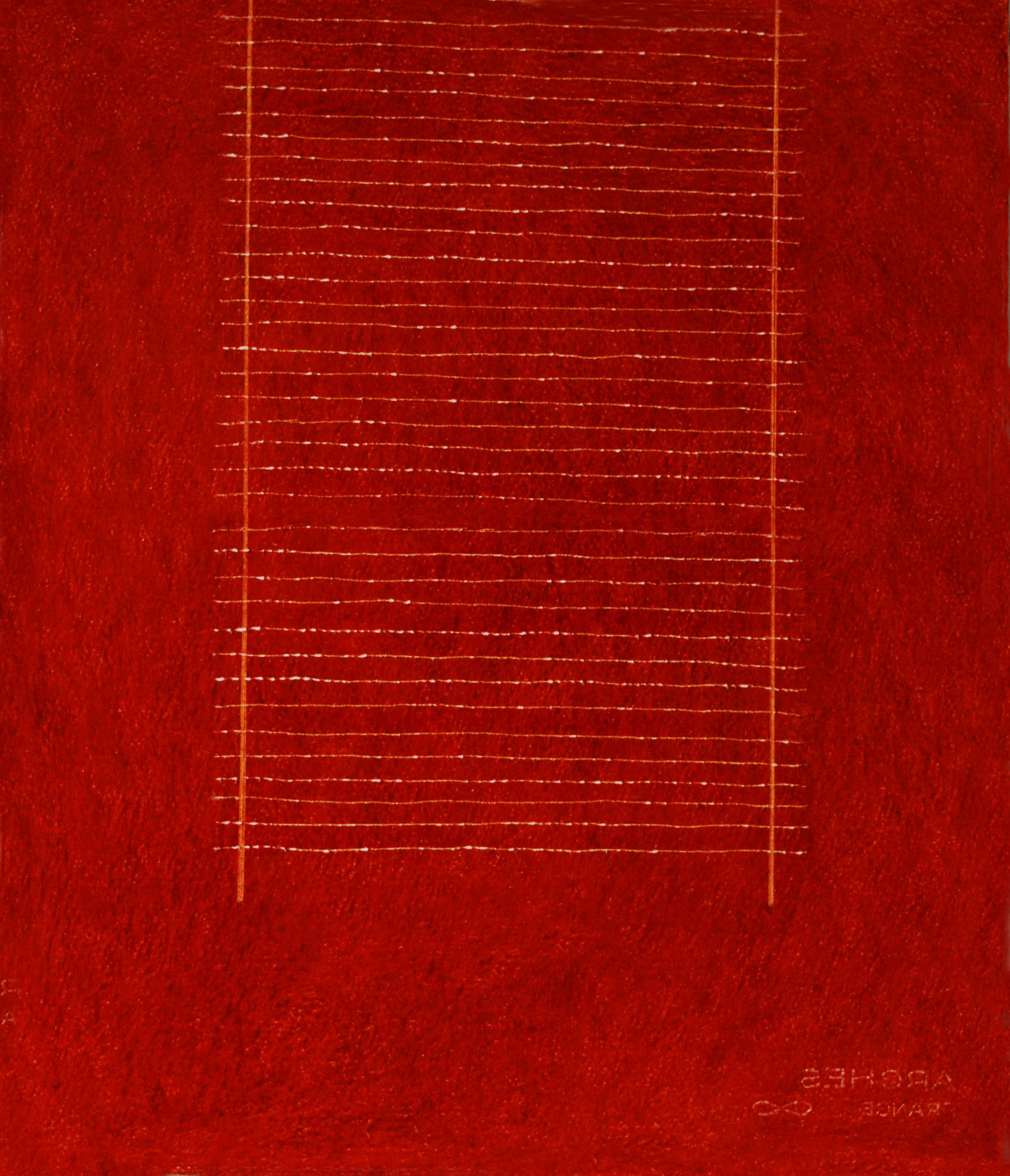 Edda Renouf Dawn Letter-7 2014 scraped and incised oil pastel on Arches paper 17 3/4 x 14 7/8 inches
