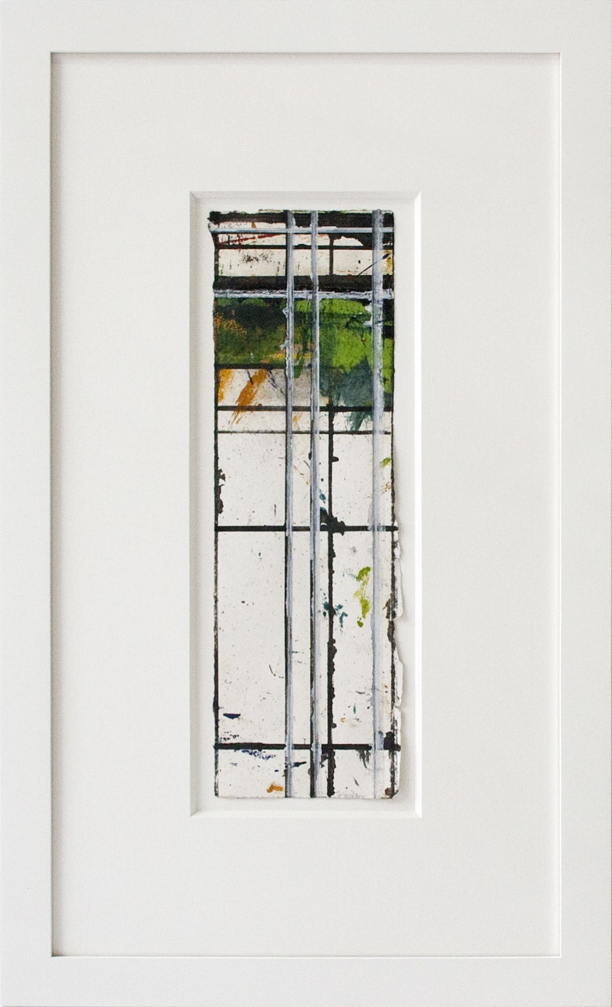Brice Marden Masking Drawing #6 1984 oil and ink on paper 14 3/4 x 4 1/2 inches