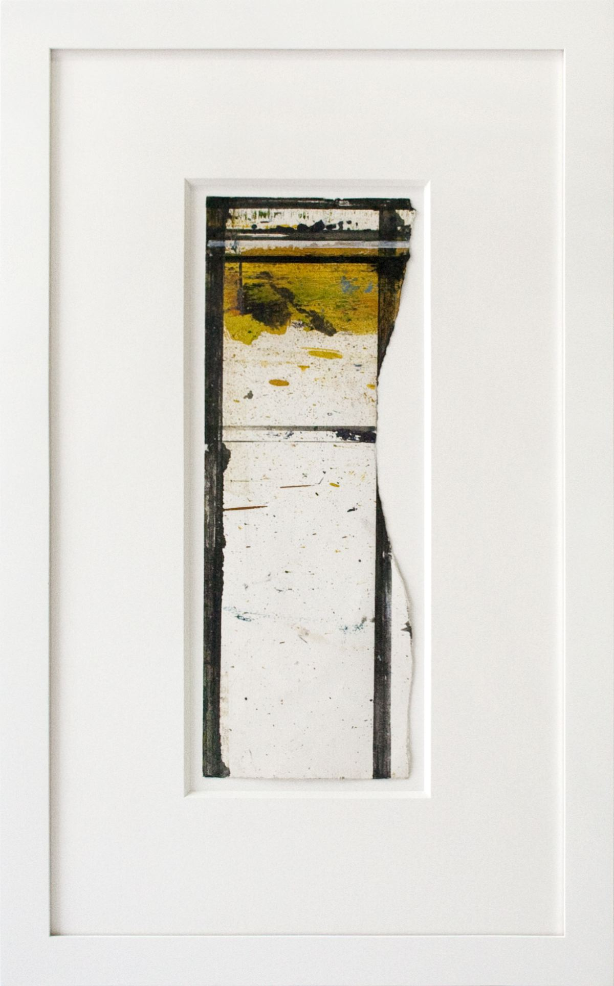Brice Marden Untitled (Masking Drawing) 1984 oil and ink on paper 14 5/8 x 5 3/8 inches