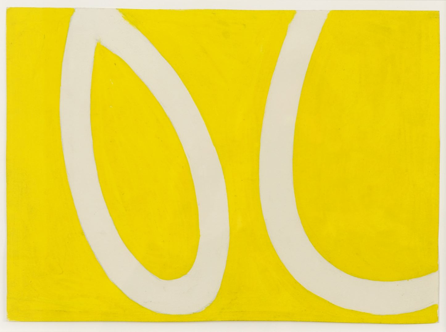 Ellsworth Kelly White Bands on Yellow 1959 graphite and oil on paper 6 1/4 x 11 3/8 inches