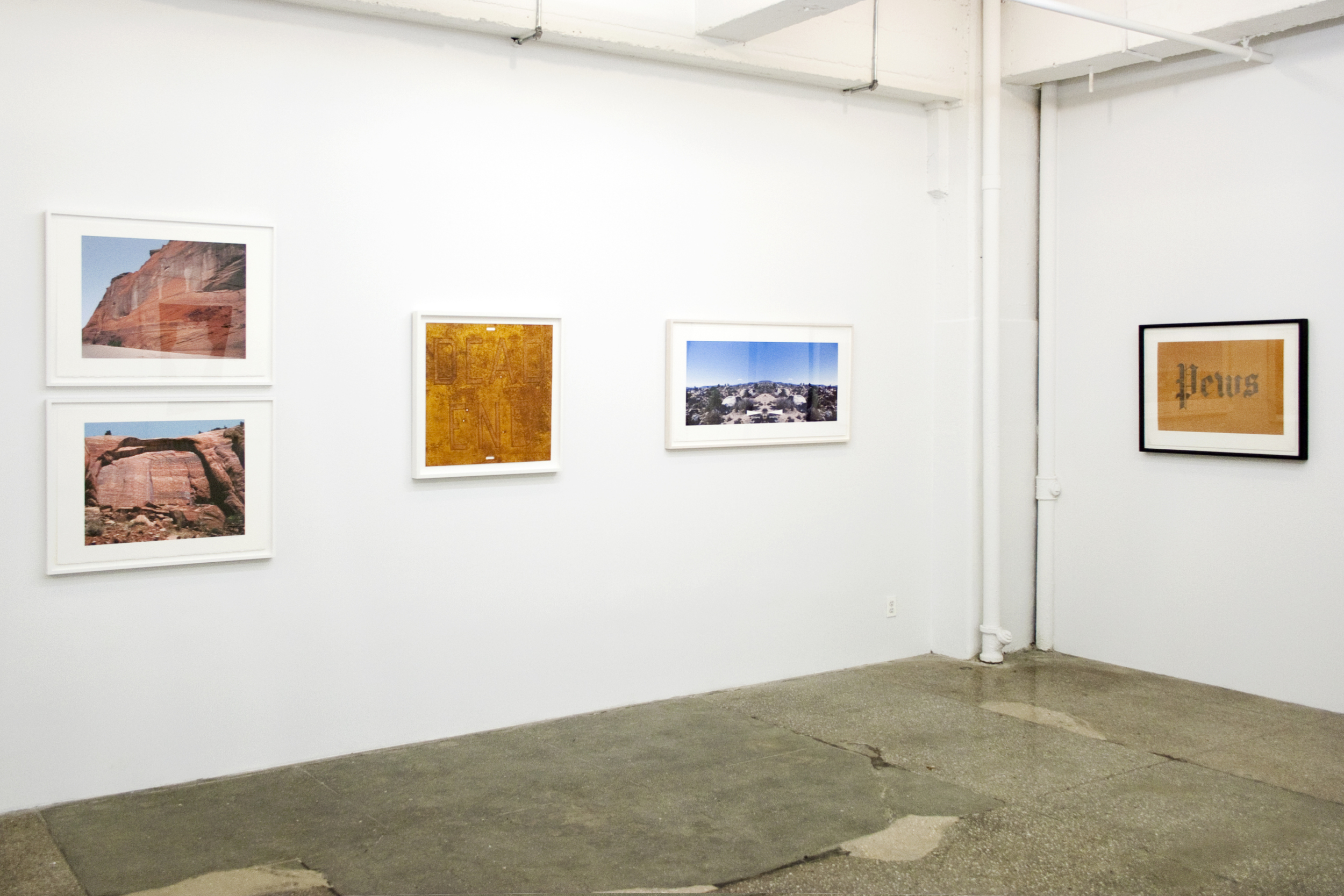 Installation View: Bruce Conner and Ed Ruscha