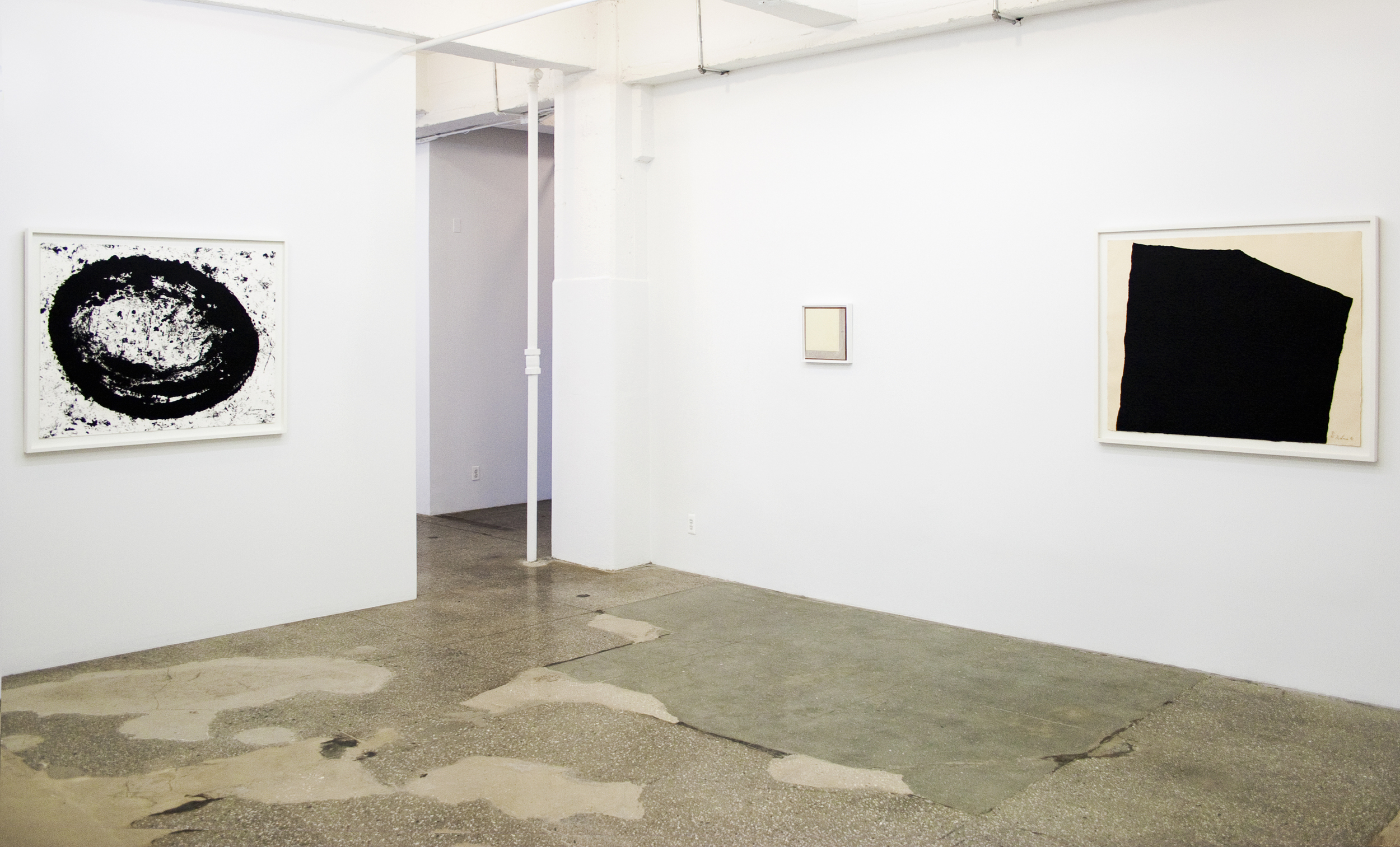 Installation View: Realm of the Absolute: Prints by Robert Ryman and Richard Serra