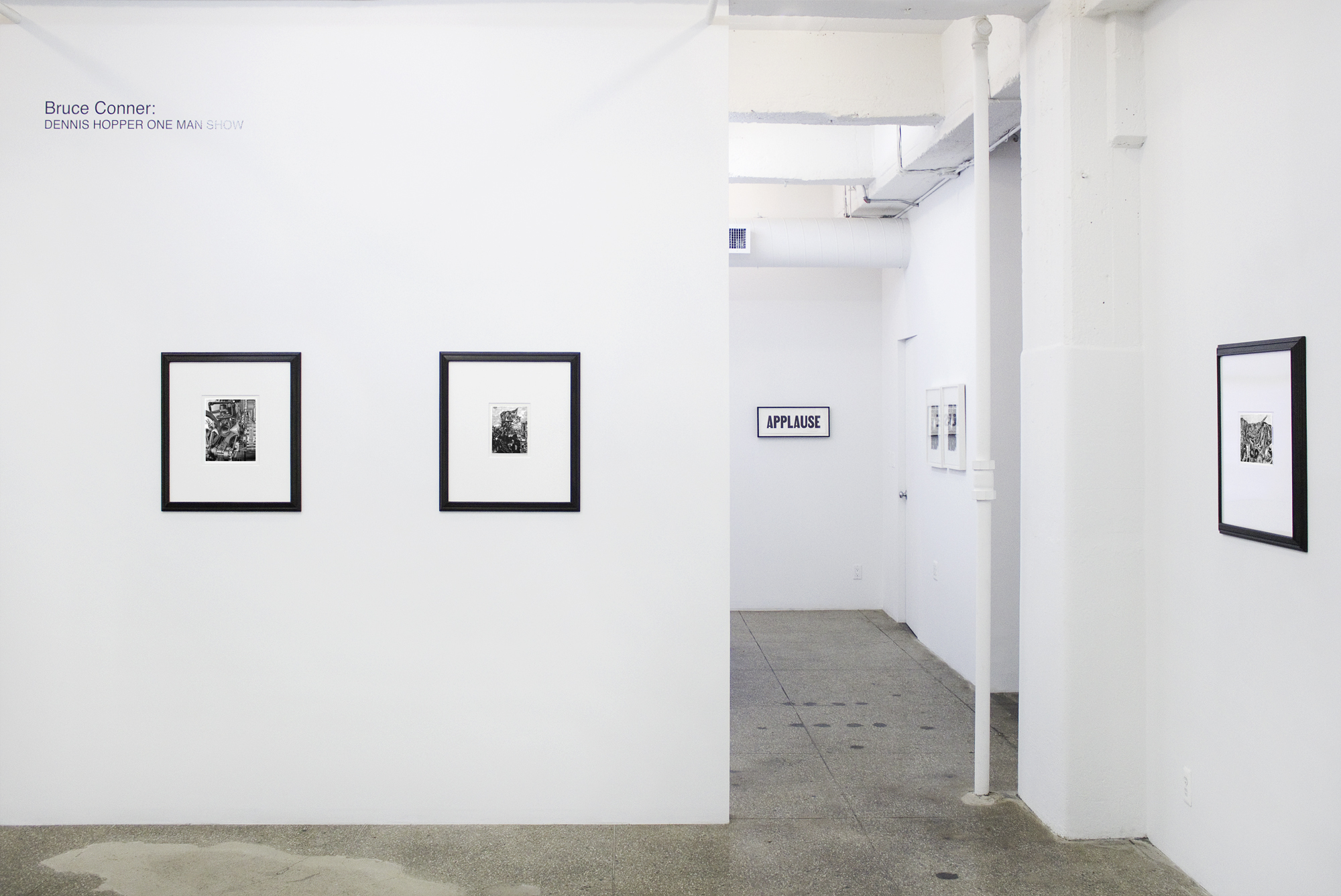 Installation View: Bruce Conner: Dennis Hopper ONE MAN SHOW