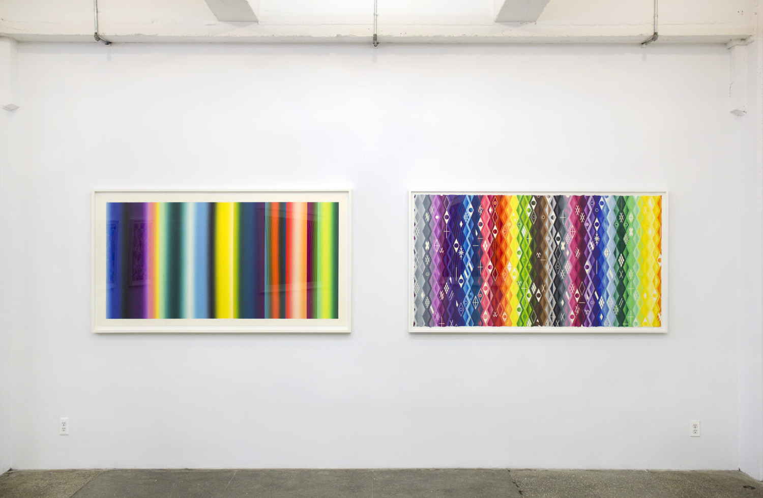 Installation View: Polly Apfelbaum: Atomic Mystic Portraits