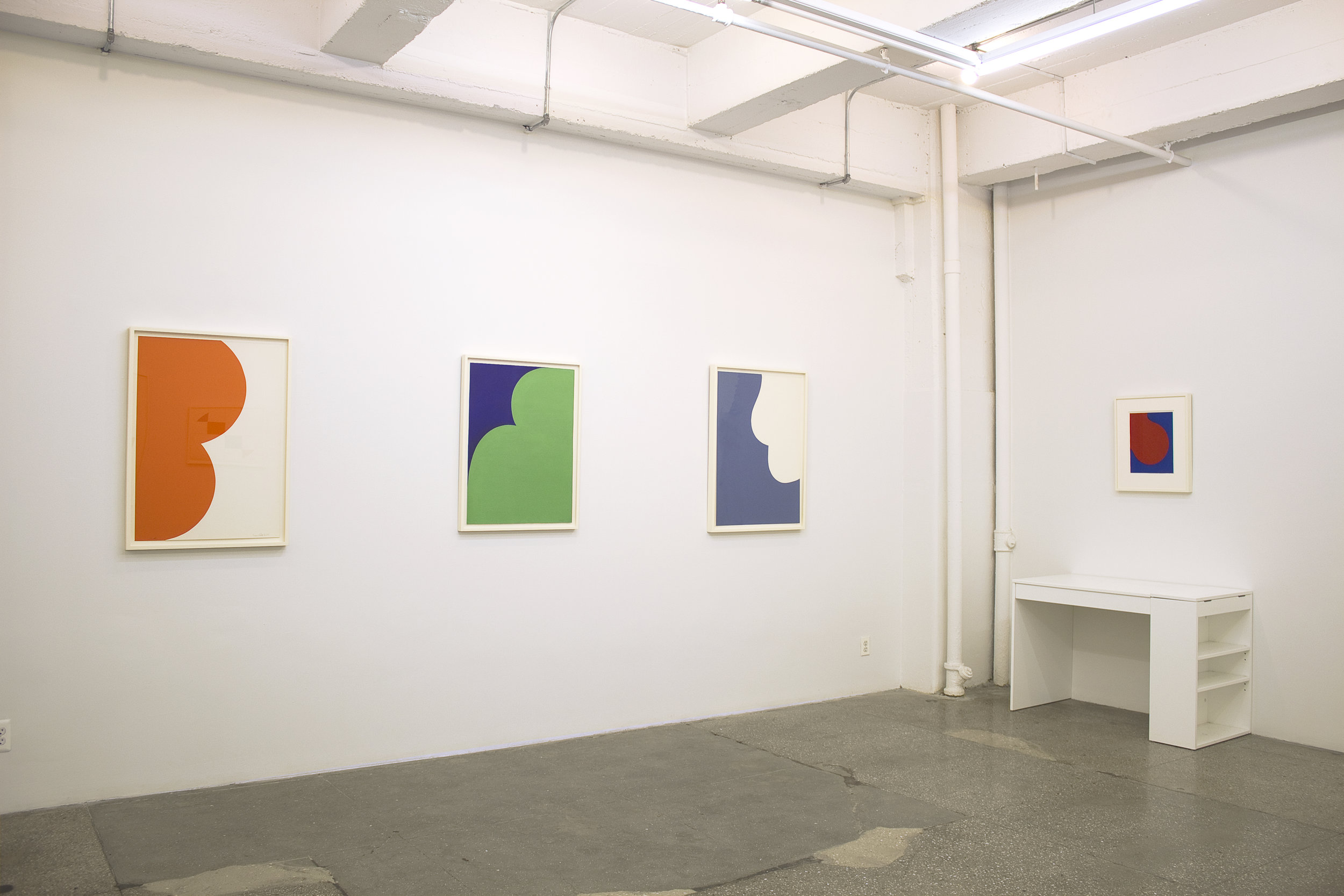 Installation View: Leon Polk Smith: Prints and Related Objects