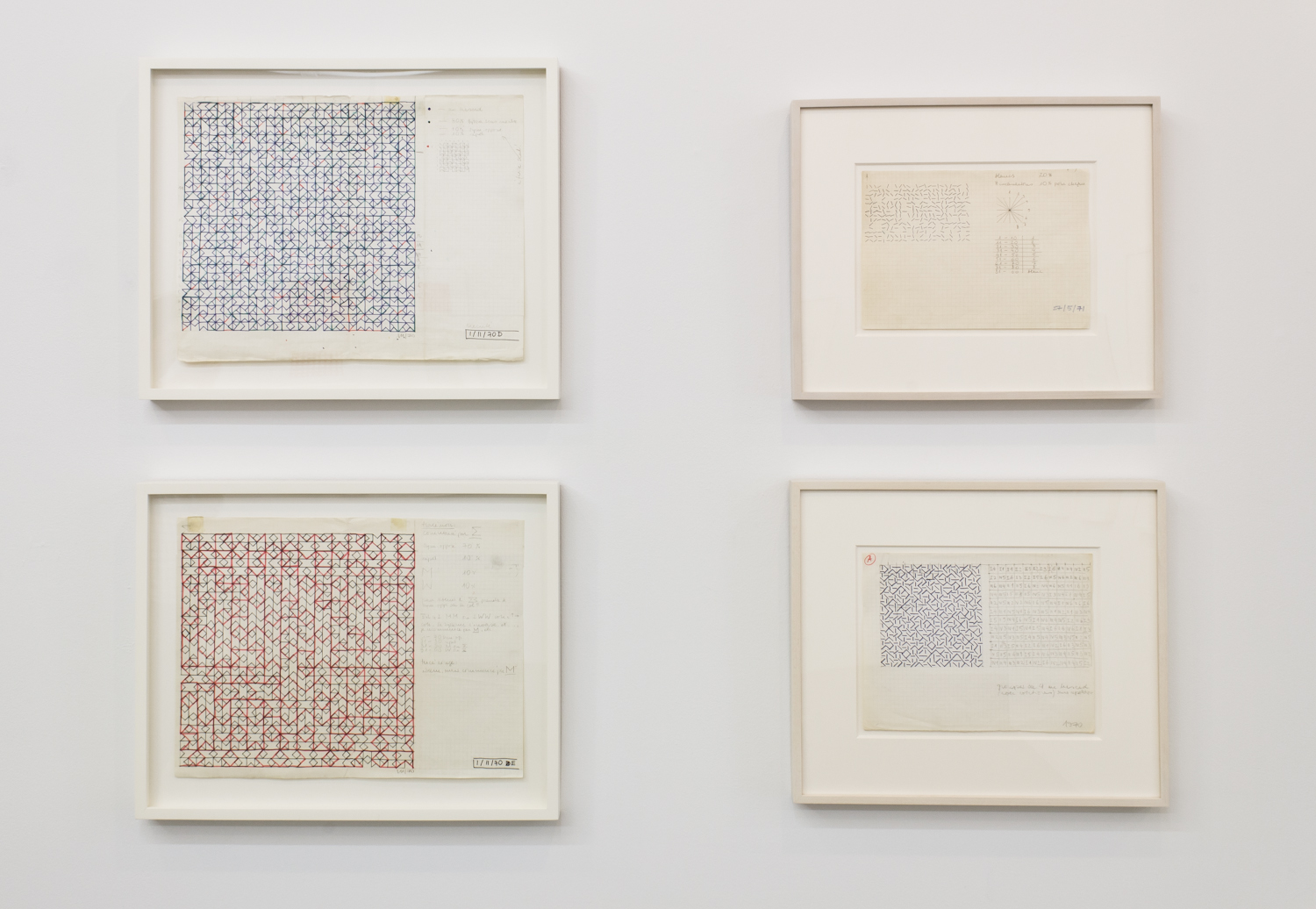 Installation View: Vera Molnar Drawings: 1949-1986