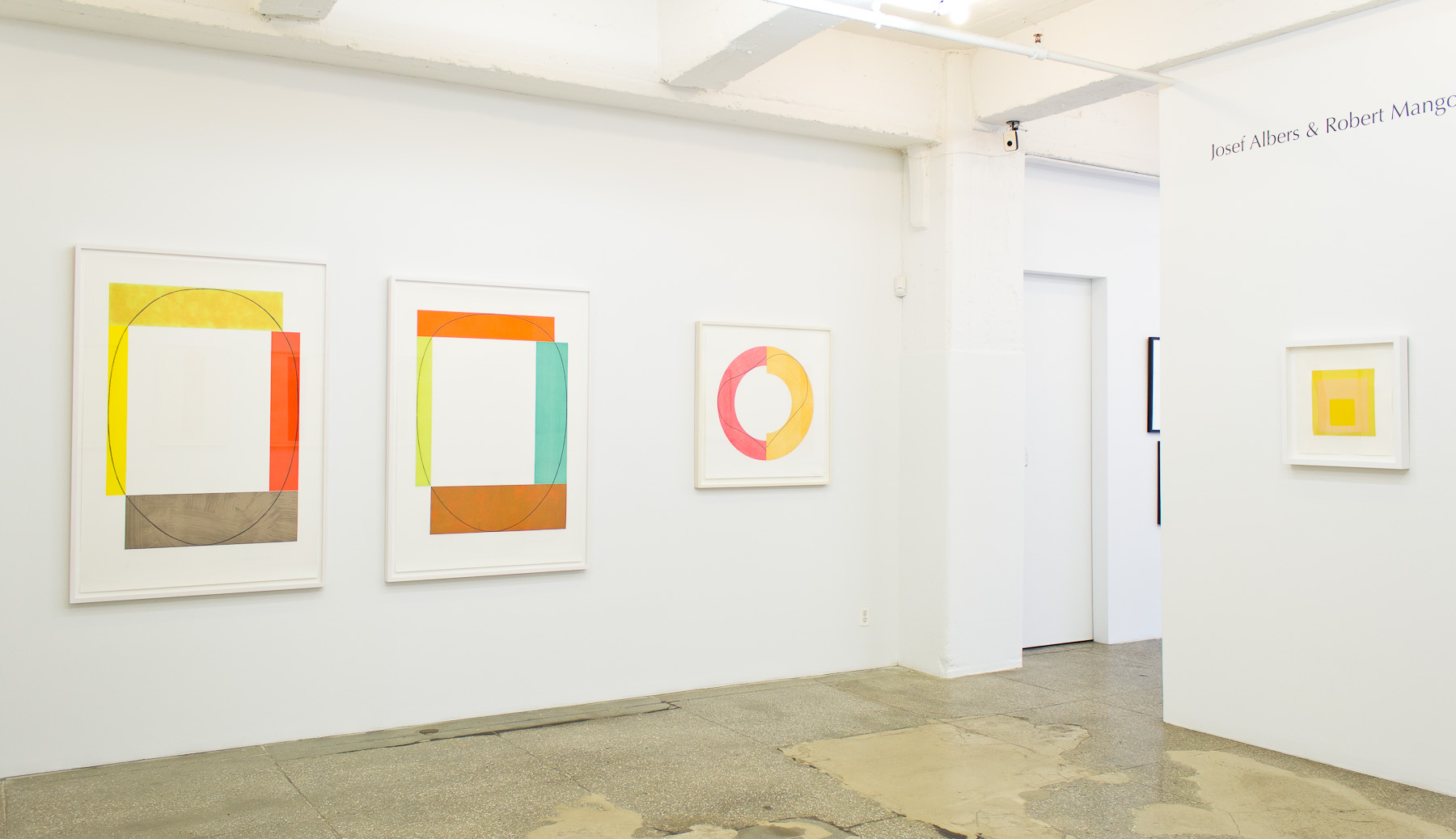 Installation View Josef Albers and Robert Mangold: The Essence of Form