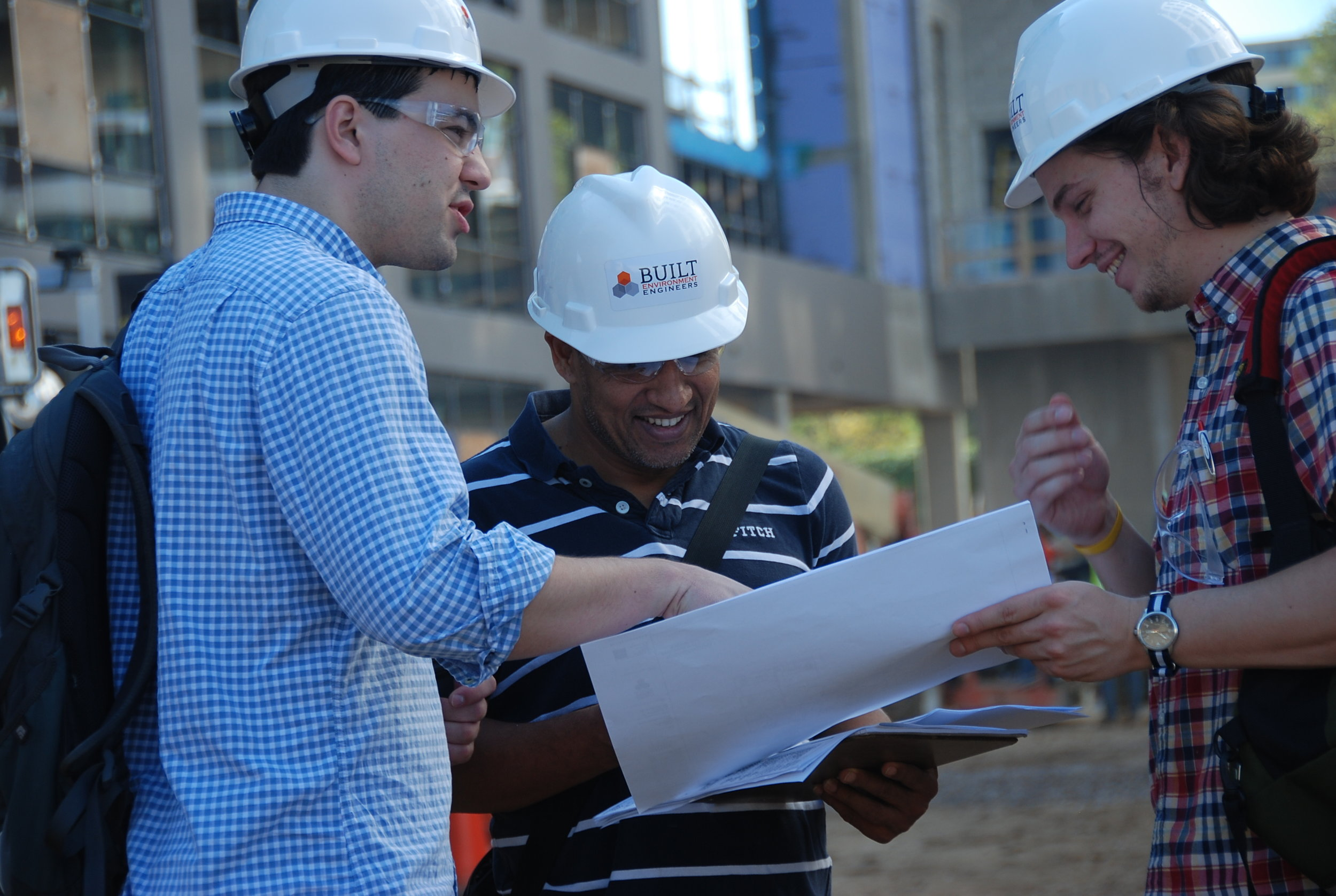 Channing Place A & B, Washington, DC - Ed, Suraj, and Colin completing a monthly field report.