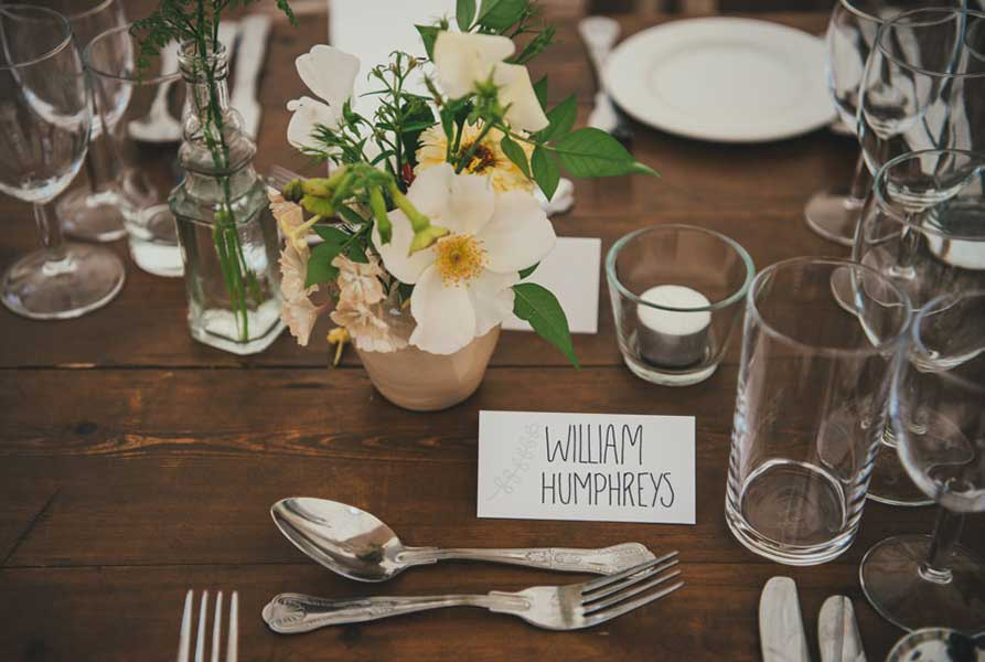 Vervain summer wedding flowers with homegrown blooms