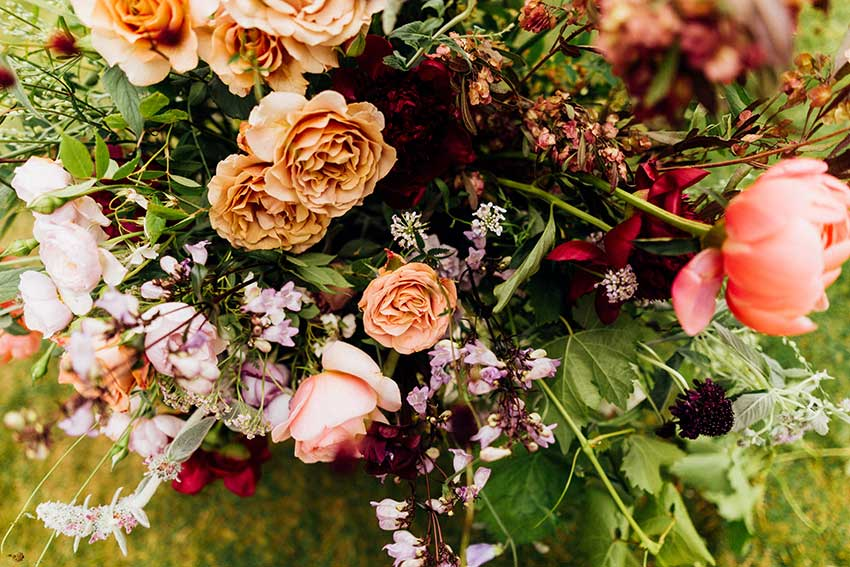 summer wedding flowers London by Vervain