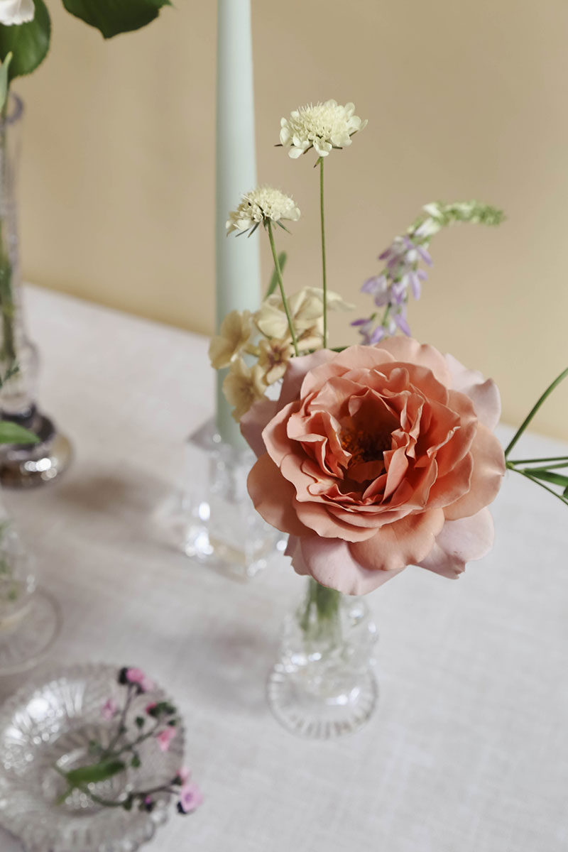 homegrown summer garden roses for wedding flowers by vervain