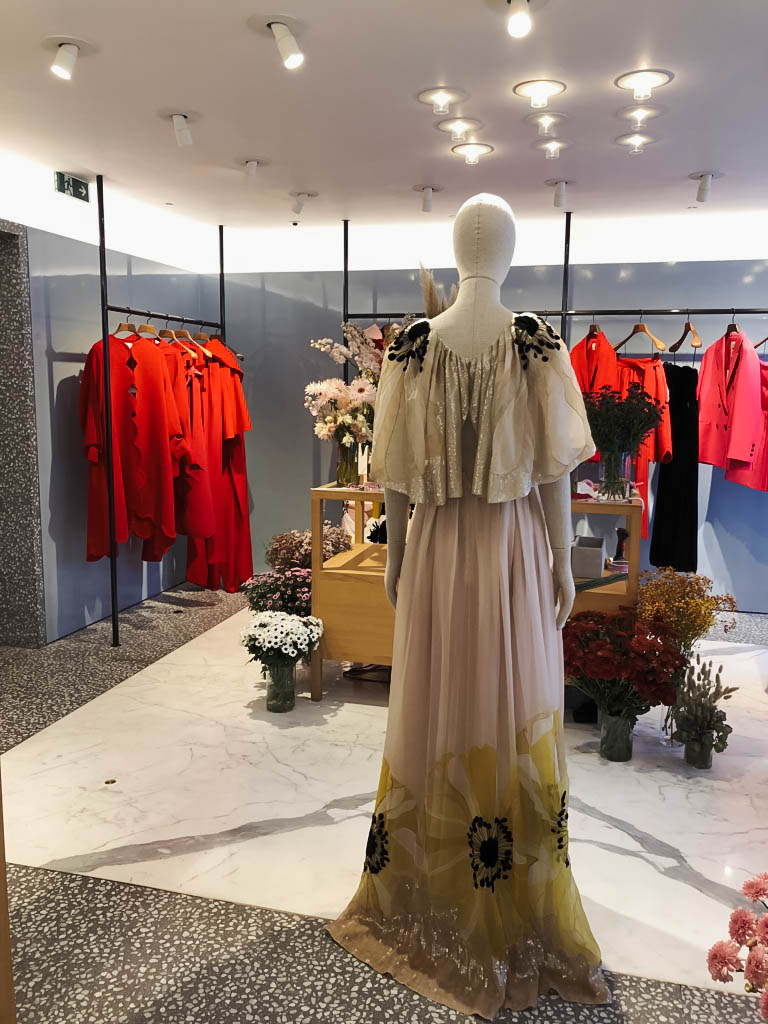 Vervain pop up at Valentino Sloane Street for the launch of their SS19 couture collection.