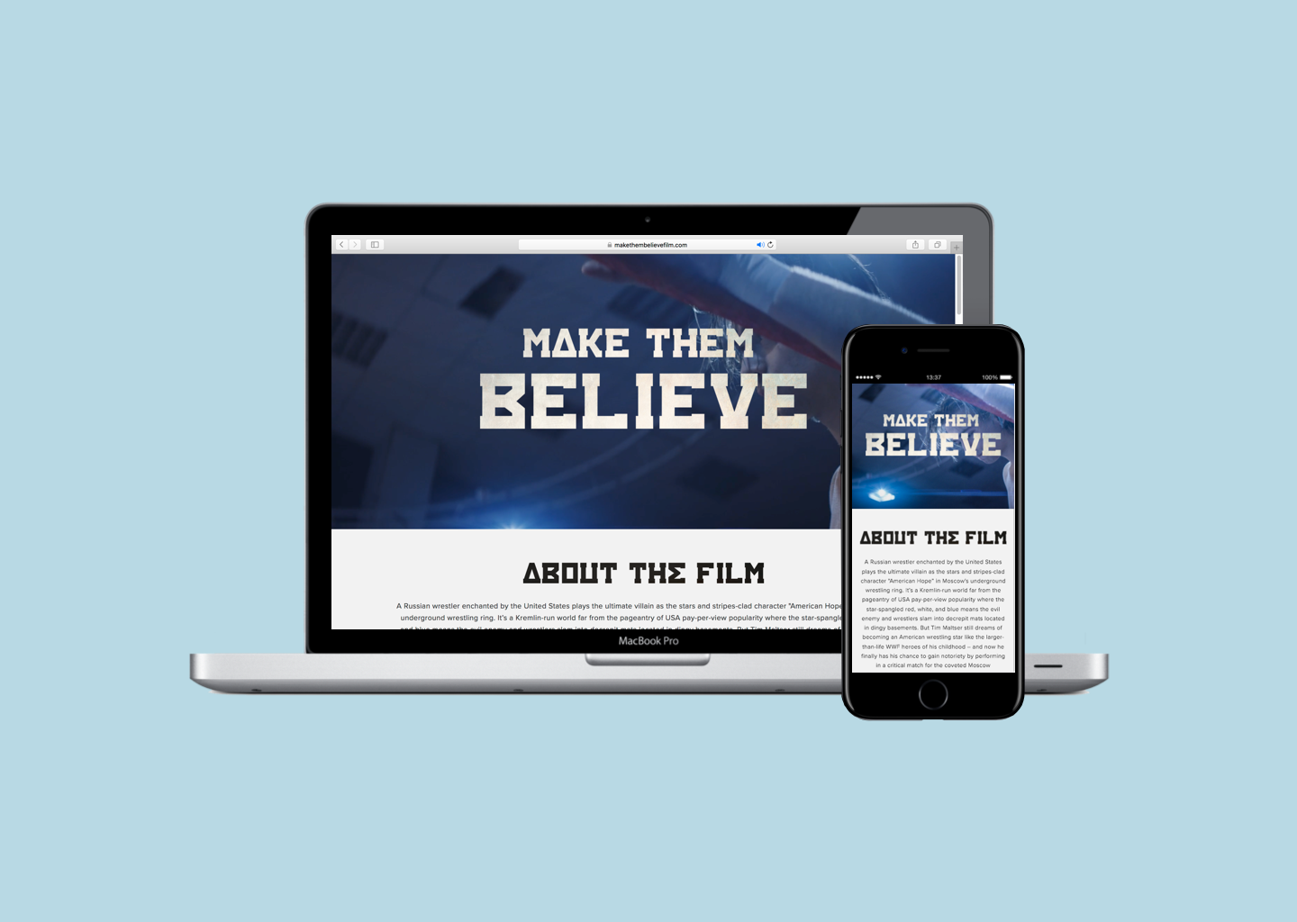 Showcase Your Project for $300 - Make Them Believe is an award winning short that needed a home on the Internet.Check out www.makethembelievefilm.com