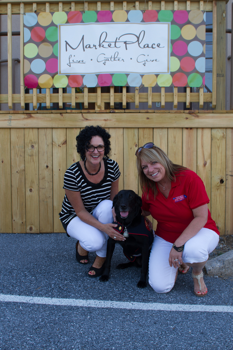 Market Place  owner Patti Santagelo of Hershey, just had to meet and pose for a picture with special guest Sgt. Rey and OFL's Executive Director.