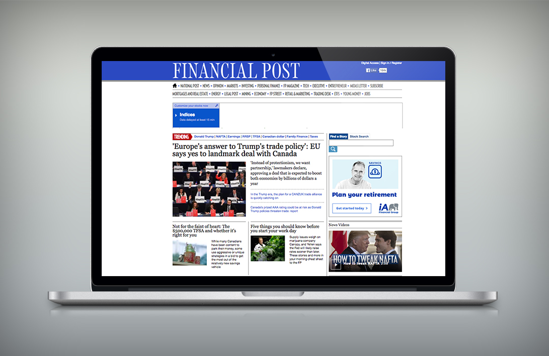 Affichage Web / Financial Post