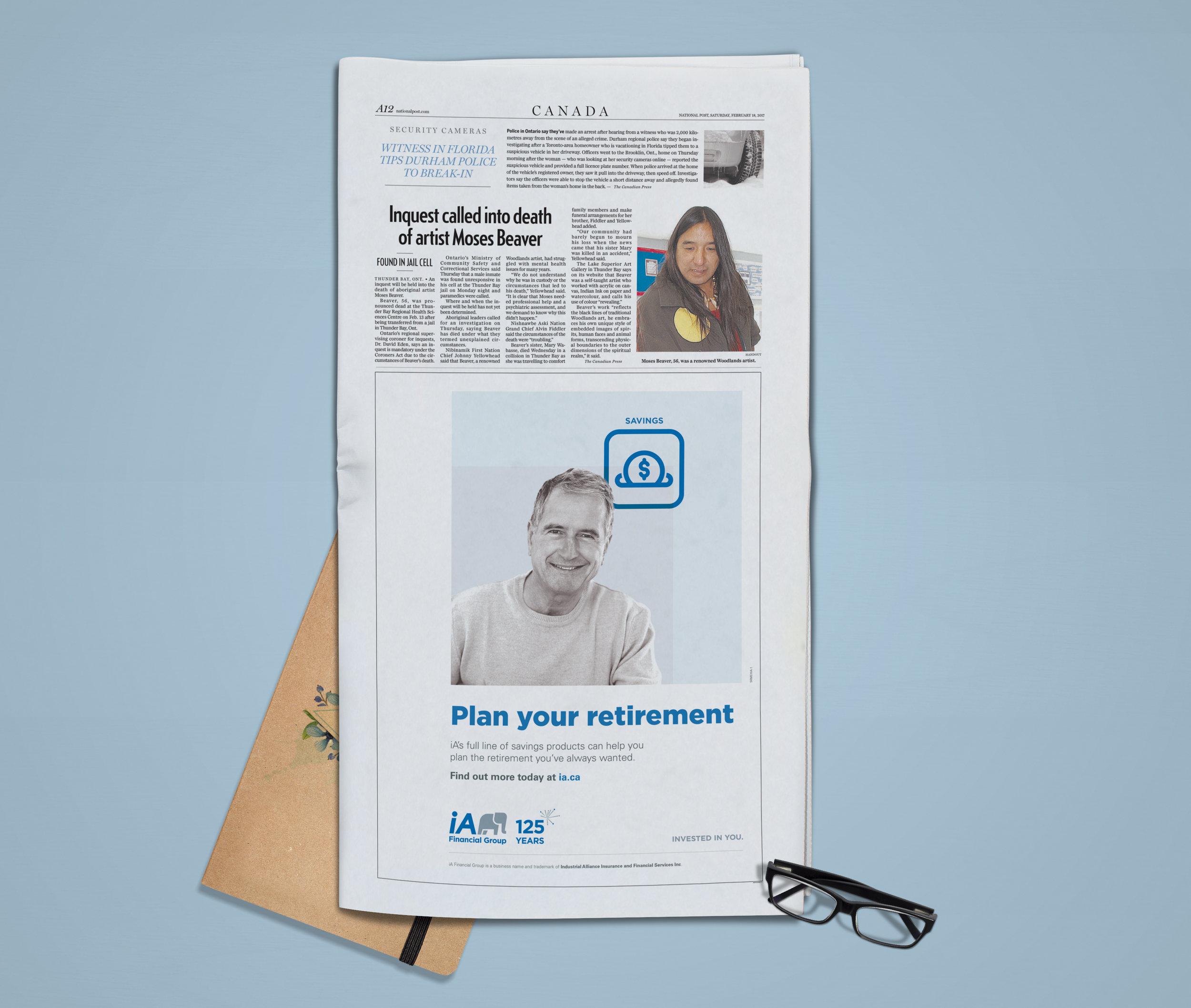 Publicité journal / Globe and Mail