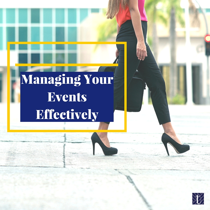 Managing Your Events Effectively