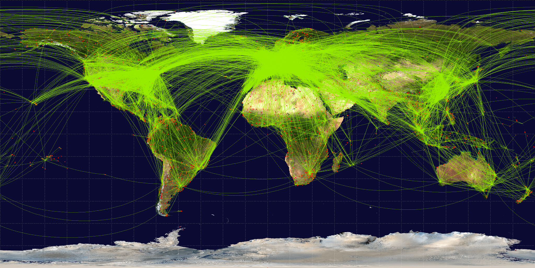 General Air Transport Global Flightpaths